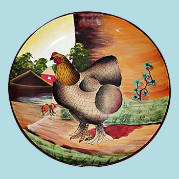 <PRE>Collector Plates Brown Hen Handpainted Stoneware Plate 10inch </PRE>zoom2