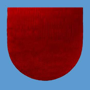 <PRE>Oval Area Rug 6' x 4' Red Cotton </PRE>zoom2