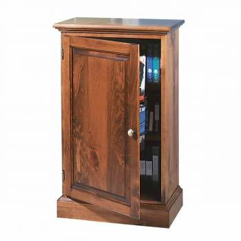 Traditional Video Storage Cabinet Unfinished Pine Wood666581grid