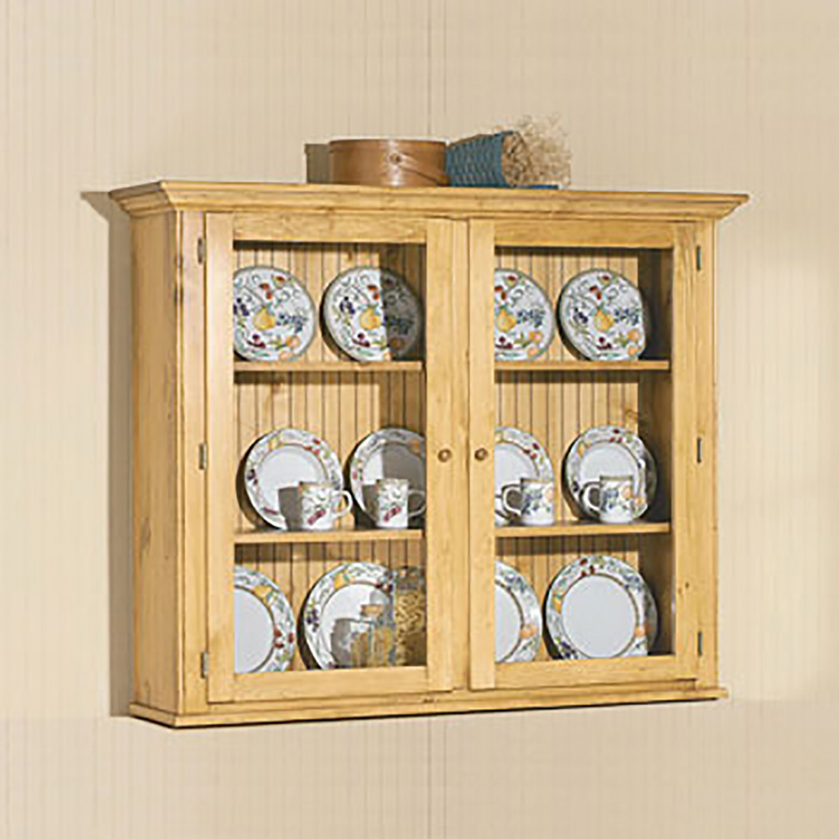 Hutch Top Heirloom Pine Walden Glass Hutch Top ONLY Wood Hutch Hutch Wood Hutches