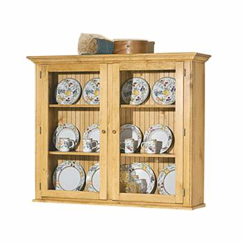 Hutch Top Heirloom Pine Walden Glass Hutch Top ONLY 666837grid