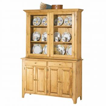 <PRE>Hutch Top Unfinished Pine Walden Glass Hutch Top ONLY </PRE>