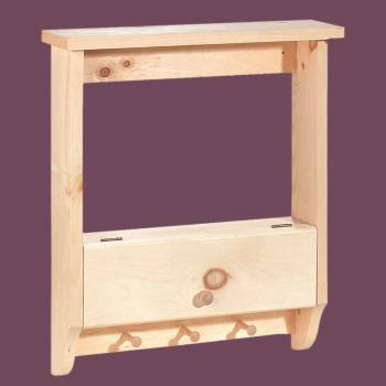 <PRE>Bathroom Shelves Wall Mounted Unfinished Pine Peg Rack 19 Inch</PRE>zoom2