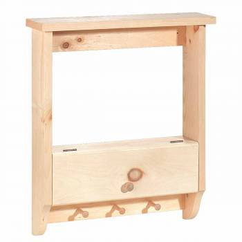 Bathroom Shelves Wall Mounted Unfinished Pine Peg Rack 19 Inch666887grid