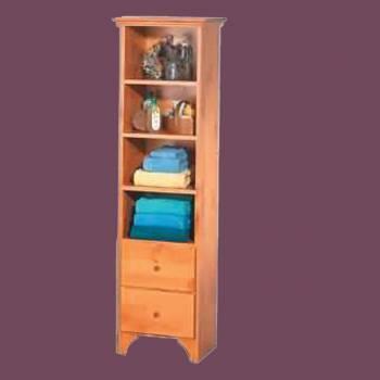 <PRE>Tower Closet Shelf Organizer Bathroom Heirloom Pine</PRE>zoom2