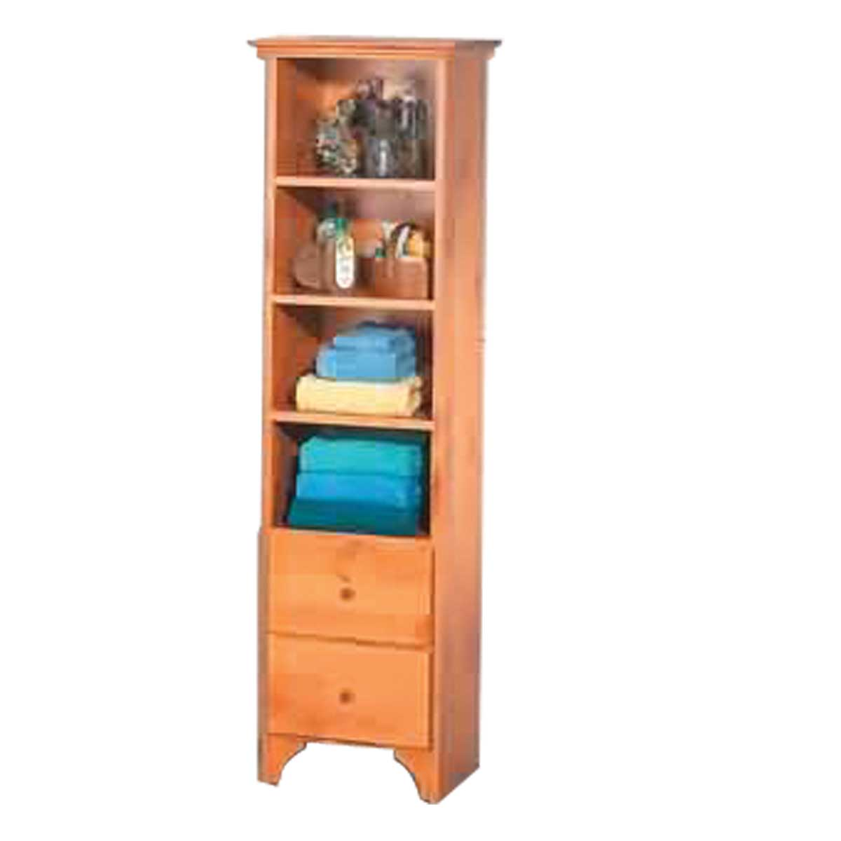 Tower Closet Shelf Organizer Bathroom Heirloom Pine