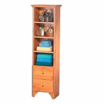 Bath Organizer Tower Heirloom Pine 63 in. H