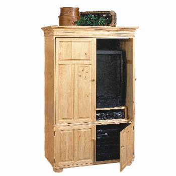 Wentworth Deluxe  Entertainment Center Solid Pine Country Pine finish