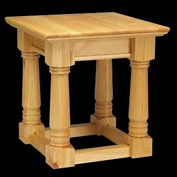 End Tables Natural Unfinished Pine Mission End Table 23H Pine End Table Mission End Table Heavy Duty End Table