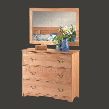 <PRE>Colonial Cherry Stain Maple Maple Three Drawer Dresser Light Cherry St</PRE>zoom2