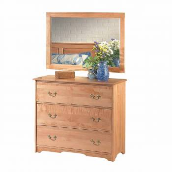 Colonial Cherry Stain Maple Maple Three Drawer Dresser Light Cherry St667142grid