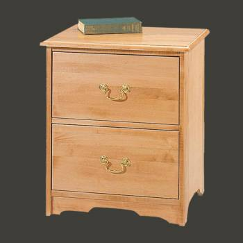spec-<PRE>NIghtstand Cherry Maple 2 Drawer Chest </PRE>