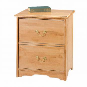 Maple Two Drawer Nightstand Solid Maple  Cherry stain
