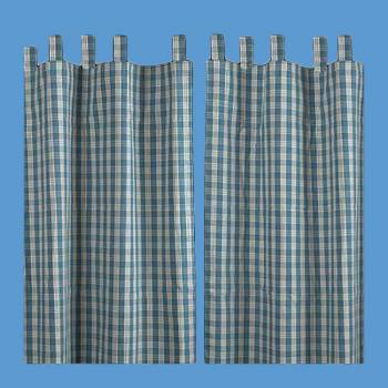 "<PRE>Curtains Blue 100% Cotton Panels 84inch x 90"" </PRE>zoom2"