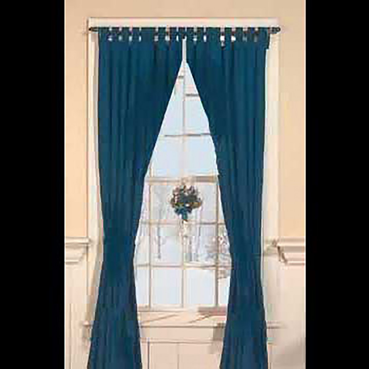 Curtains Navy 100% Cotton Tab Top Curtains 84 x 80 Window Curtain Curtain Curtains