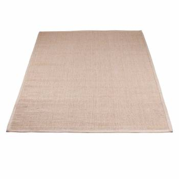 Rectangular Area Rug 9' x 6' Beige Jute 667717grid