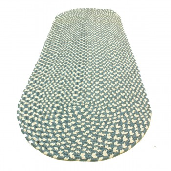 <PRE>Oval Area Rug 6' x 2' Blue Nylon </PRE>zoom5