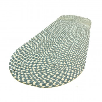 <PRE>Oval Area Rug 6' x 2' Blue Nylon </PRE>zoom6