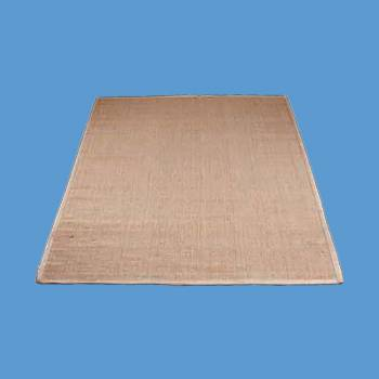<PRE>Rectangular Area Rug 6' x 4' Beige Jute </PRE>