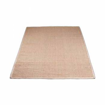 Rectangular Area Rug 6' x 4' Beige Jute 667872grid
