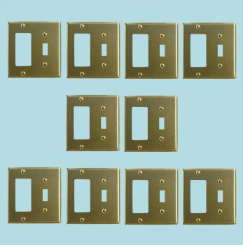 <PRE>10 Switchplate Brushed Brass GFI Toggle </PRE>zoom2