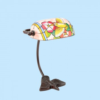 Table Lamp Bronze Bird  Style Lamp Stained Glass 7.5 Tiffany Style Lamp Bird Lamp Unique Cute Animal Desk Lamp