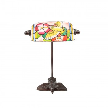 <PRE>Table Lamp Bronze Bird  Style Lamp Stained Glass 7.5inch</PRE>zoom3
