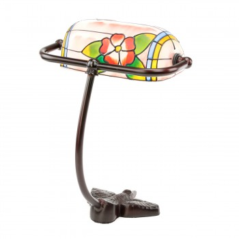 <PRE>Table Lamp Bronze Bird  Style Lamp Stained Glass 7.5inch</PRE>zoom5