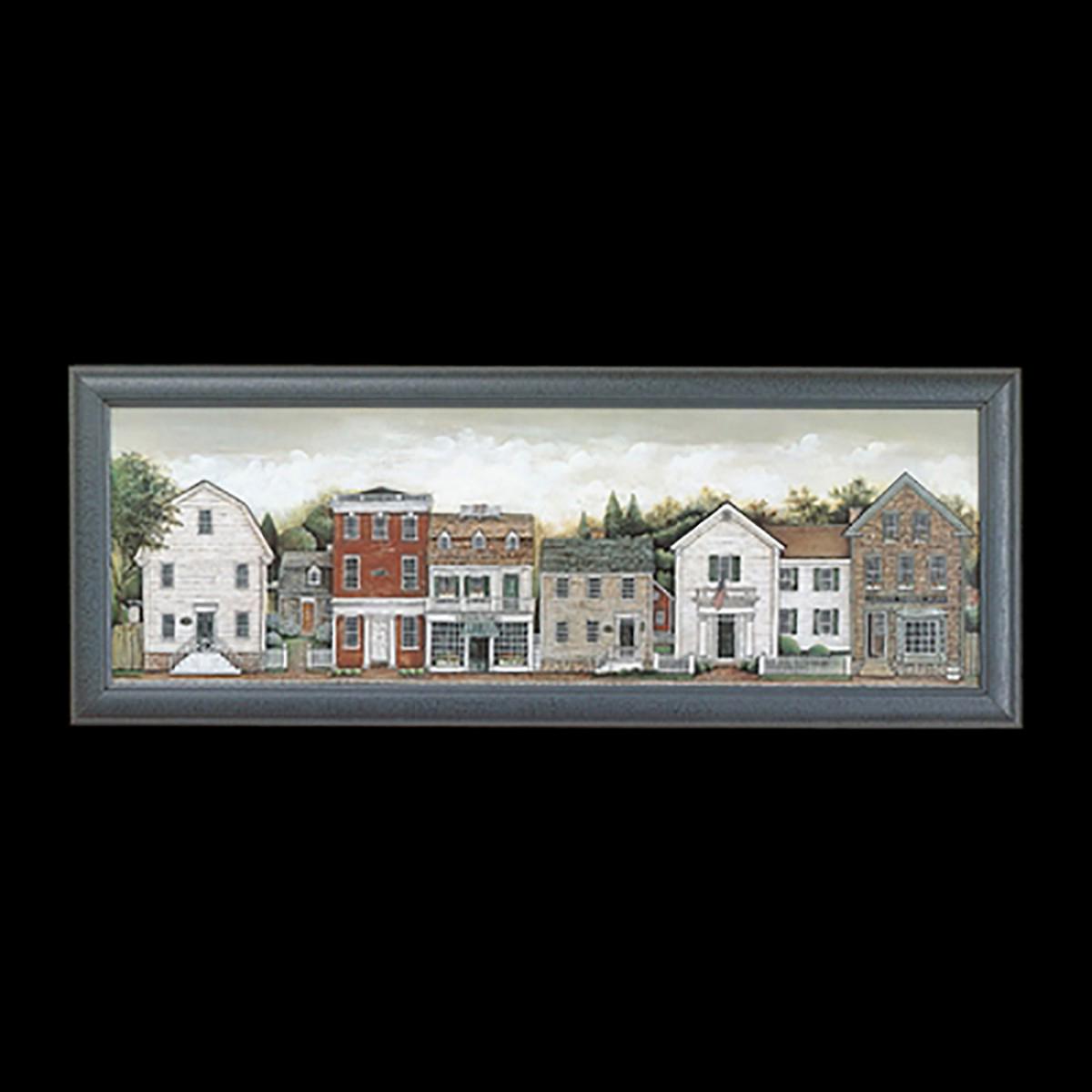 Framed Print Small Town 39 x 15 Wall Prints Framed Art Decoratvie Framed Art