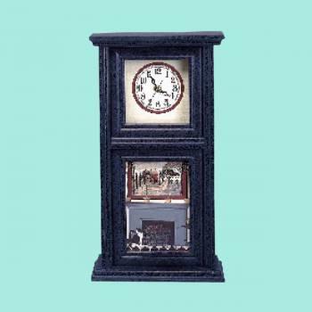 Wood Wall Clock Vintage Blue Mission Crackle Clocks Decorative Clock Decorative Clocks