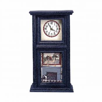 <PRE>Wood Wall Clock Vintage Blue Mission Crackle </PRE>zoom1