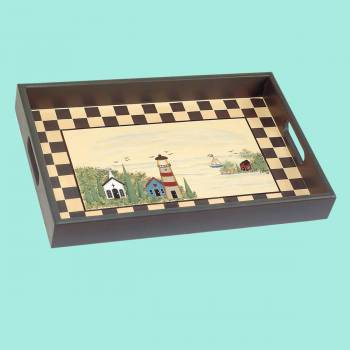 <PRE>Trays Multi Wood Lighthouse Tray </PRE>zoom2