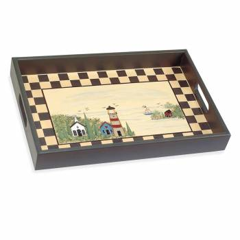Trays Multi Wood Lighthouse Tray 67118grid