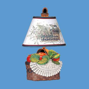 Table Lights - Table Lamp Egg Basket Lamp with  Shade by the Renovator's Supply