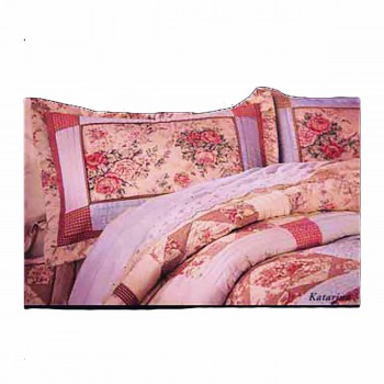 Pillow Sham Red Check Katarina Floral Sham Cotton 20 x 26