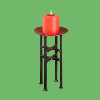 Candle Holder Freestanding Black Iron 11.5H Candle Holders Candle Holder Wrought Iron Candle Holders