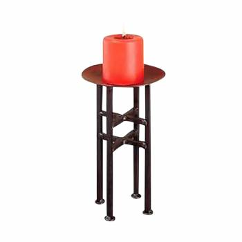Candle Holder Freestanding Black Iron 11.5