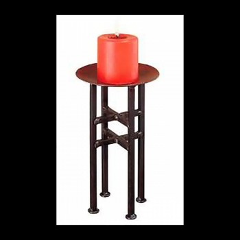 <PRE>Candle Holder Freestanding Black Iron 13.5&quot;H </PRE>