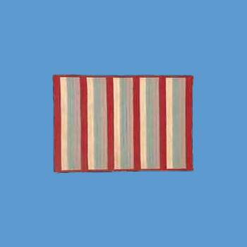 <PRE>Accent Area Rug Red Stripe Poly/Acrylic 3' x 5' </PRE>zoom2