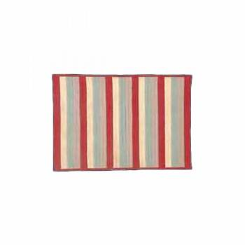 Accent Area Rug Red Stripe Poly/Acrylic 3' x 5' 67176grid