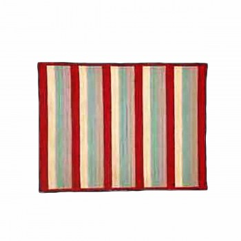 Rectangular Area Rug 3' x 2' Red Rayon 67202grid