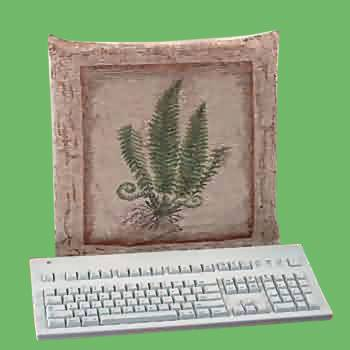 spec-<PRE>Computer Cover Stone Green Woven Tapestry </PRE>