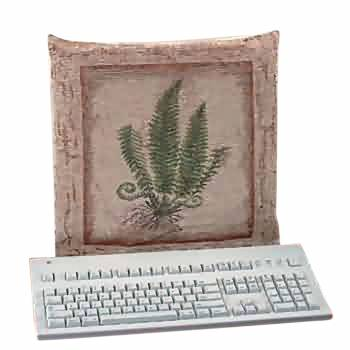 Computer Cover Stone Green Woven Tapestry 67220grid