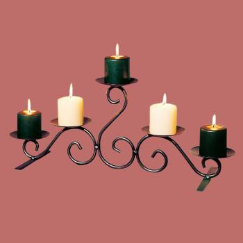 <PRE>Candle Holders Black Wrought Iron 10inchH </PRE>zoom2