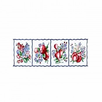 Waverly Fruit Border White Background