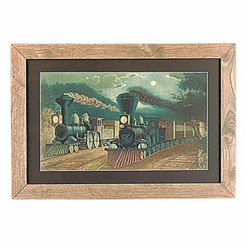 "<PRE>Framed Print Train Wood Frame 15inch x 21.75"" </PRE>zoom1"