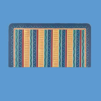 <PRE>Rectangular Area Rug 2' 11inch x  1' 11&quot; Blue Polyester </PRE>zoom2