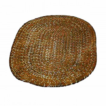 Oval Area Rug 5' x 3' Brown Polypropylene 67399grid