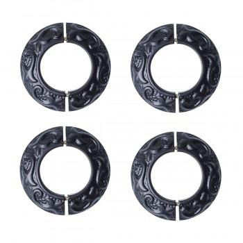 Rustproof Radiator Flange Black Aluminum Powder Coat Collar 4 Pack