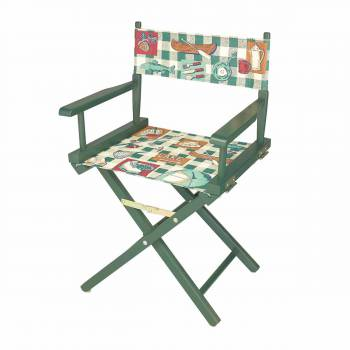Folding Chairs Cotton/Wood Folding Chair 33 5/8